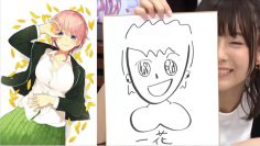[Eng Sub] Master Artist Inori Minase draws Ichika – Go toubun no Hanayome
