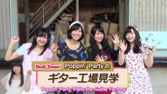 [Eng Sub] Poppin Party visits ESP guitar factory (2015-07-30)