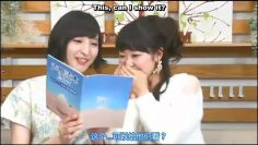 Sakura Ayane showing an old picture of her, Matsuoka Yoshitsugu and Touyama Nao.